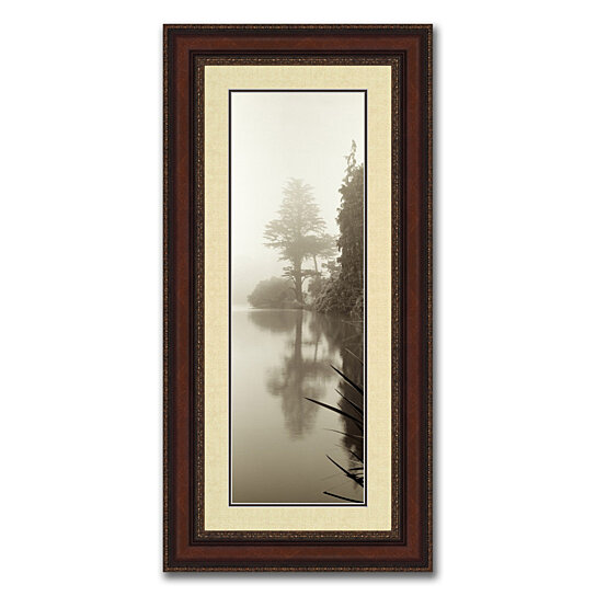 buy lakeside ii framed photograph print in balmy 20 x 40 brown frame with gold accents by. Black Bedroom Furniture Sets. Home Design Ideas