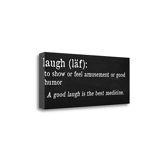 "Buy Definition: Buy Laugh Definition By Anna Quach, 32"" X 13"" Fine Art"