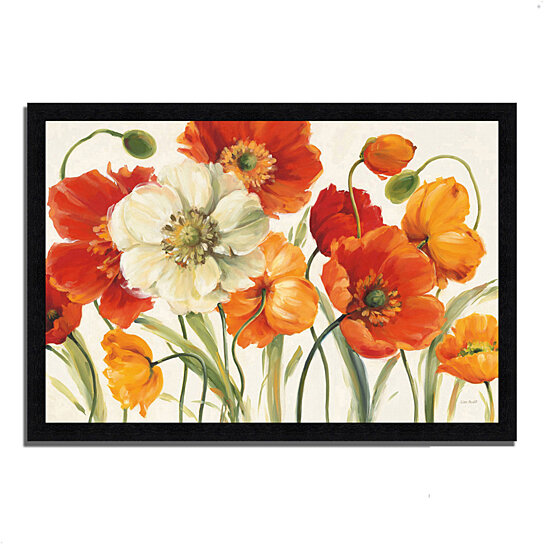 buy poppies melody i by lisa audit 39 x 27 framed painting print black frame by tangletown. Black Bedroom Furniture Sets. Home Design Ideas