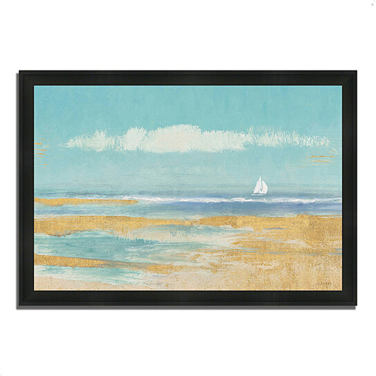 buy sail away by james wiens 39 x 27 framed painting print silky black frame by tangletown. Black Bedroom Furniture Sets. Home Design Ideas