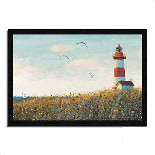 buy seaside view i by james wiens 39 x 27 framed painting print black frame by tangletown. Black Bedroom Furniture Sets. Home Design Ideas