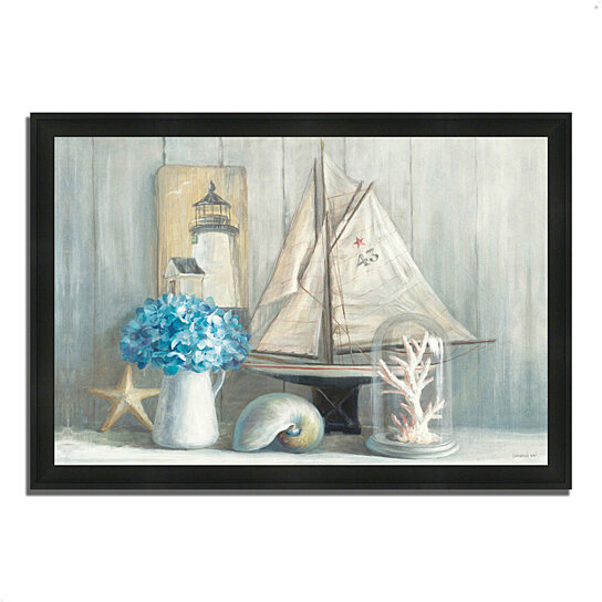 buy summer house by danhui nai 39 x 27 framed painting print silky black frame by tangletown. Black Bedroom Furniture Sets. Home Design Ideas