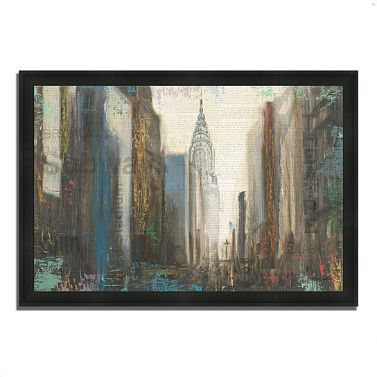 buy urban movement i ny by myles sullivan 39 x 27 framed painting print silky black frame by. Black Bedroom Furniture Sets. Home Design Ideas