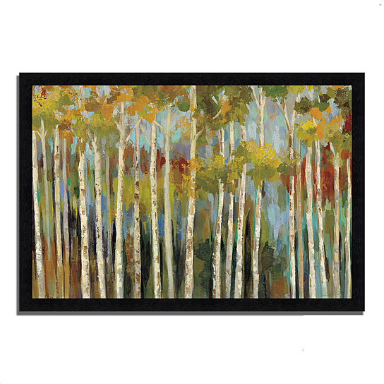 buy young forest iii by silvia vassileva 39 x 27 framed painting print black frame by. Black Bedroom Furniture Sets. Home Design Ideas