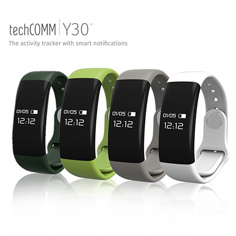 Techcomm Y30 Fitness Activity Tracker with Hear Rate Monitor