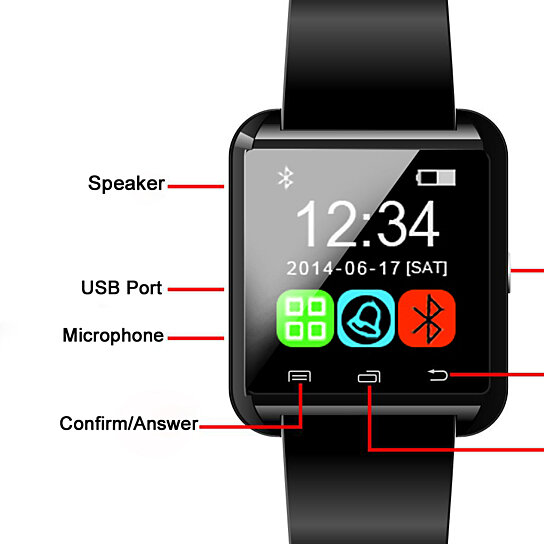 335e91aeab4 Trending product! This item has been added to cart 30 times in the last 24  hours. Bluetooth Handsfree Smart Watch for Smartphones   Tablets
