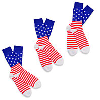 Americana - American Flag - Men's Crew Socks 3-Pair