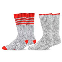 TeeHee Recycled Cotton Thermals Boot Socks  Tip 3 Stripe Top 2-Pack