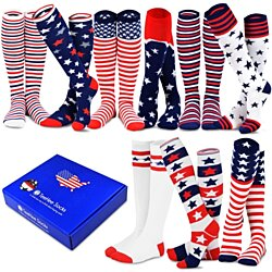 46dc3843bb0 TeeHee Special (Holiday) Women Knee High 9-Pairs Socks with Gift Box (