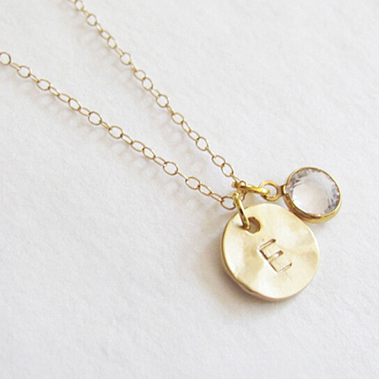 Buy Initial With Birthstone Necklace By Teilla On OpenSky