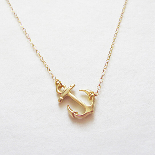Buy gold anchor necklace by teilla on opensky aloadofball Gallery