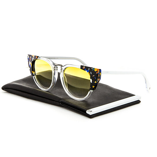 6e07e23cdbd3 Trending product! This item has been added to cart 65 times in the last 24  hours. Fendi FF 0074 S Sunglasses RCKSV Transparent Crystal White Marbled  Yellow ...