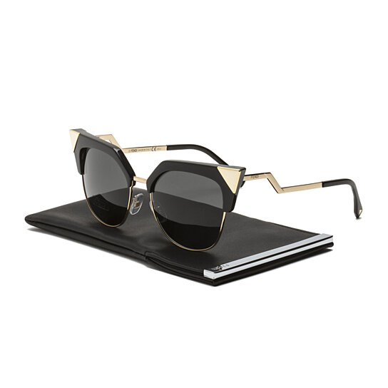 b607f7ab0ca2 Trending product! This item has been added to cart 47 times in the last 24  hours. Fendi FF 0149/S Iridia Sunglasses REWP9 Black Gold ...