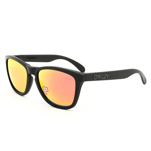 oakley frog skins polished black ruby iridium