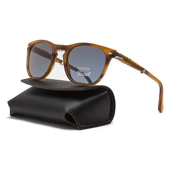 2456e6b0cf8 Buy Persol PO3028S Sunglasses 960 56 Striped Brown   Blue AR Lens 52 mm by  Ten Element Co on OpenSky