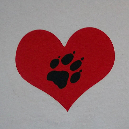 Buy Wolf Paw Heart Love Dog Wolves Puppy Regular Crew T