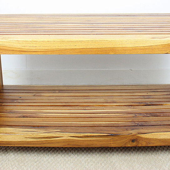 Teak Oil Coffee Table: Buy Coffee Table W Shelf 36x16x18 Inch H Farmed Teak Slat