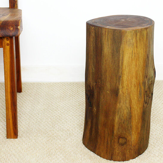Buy farmed teak stump stool end table 11 d x 18 inch h w e for 11 inch table