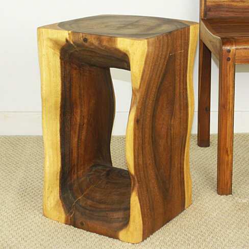 Buy natural end table 12 x 12 x 20 inch height sust wood w for 12 inch accent table