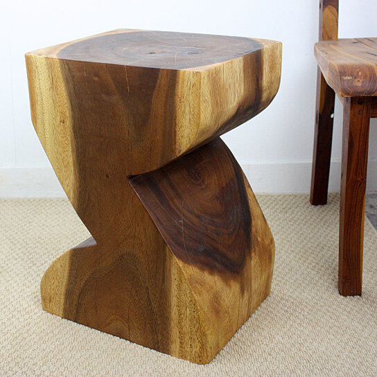 Buy zat end table 12x14x20 inch h sust monkey pod wood w e for 12 inch accent table