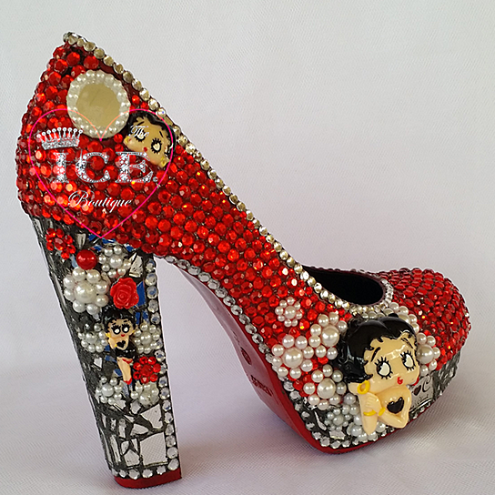 Buy Betty Boop Chunky Heel Platform Pumps By The Ice