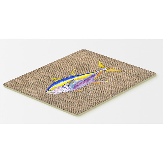 Buy fish tuna kitchen or bath mat 20x30 by the store on for Fish bath mat