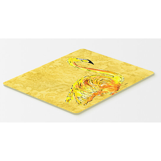 buy flamingo on yellow kitchen or bath mat 20x30 by the store on