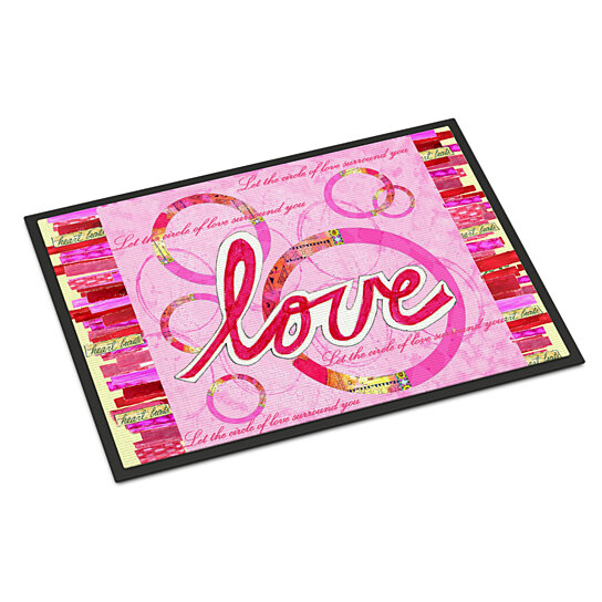 Buy Love Is A Circle Valentine S Day Indoor Or Outdoor Mat