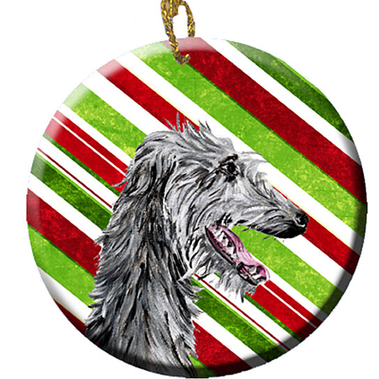 Buy Scottish Deerhound Candy Cane Christmas Ceramic