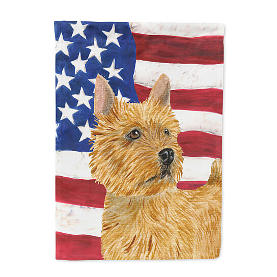 Buy USA American Flag With Norwich Terrier Flag Garden