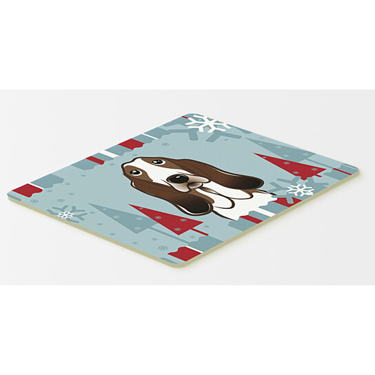 Buy Winter Holiday Basset Hound Kitchen Or Bath Mat 20x30