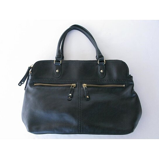 Nwt 398 Roots Black Leather The Londoner Box Tote Hand Bag 13c8e7c39414c