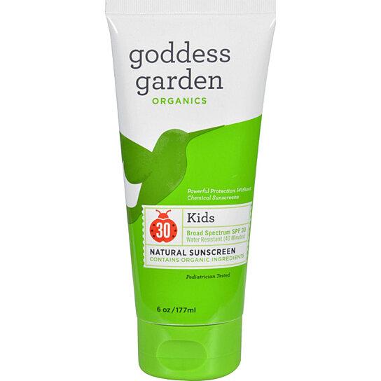 Buy Goddess Garden Organic Sunscreen Kids Natural Spf 30 Lotion 6 Oz By The Green Life On