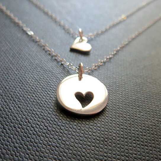 Buy Mother And Daughter Heart Necklace By The Jewelry Bar