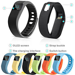 Bluetooth Smart Health Bracelet Sport Watch Pedometer Fitness Tracker