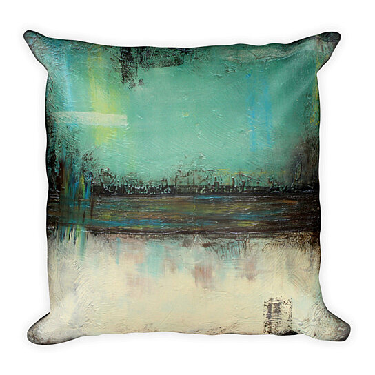 Buy Sage Green And Ivory Throw Pillow By The Modern Home