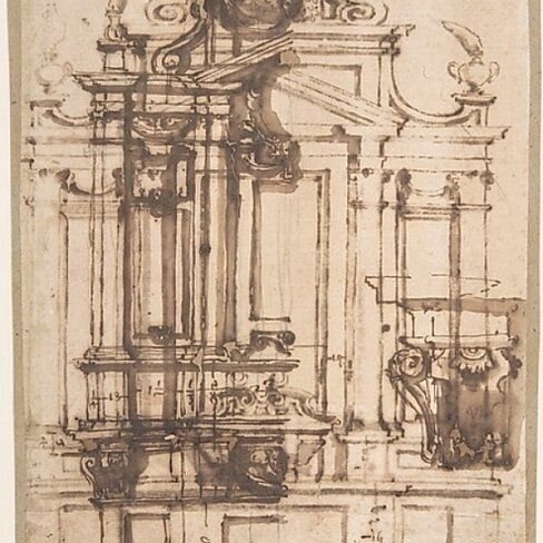 Buy Architectural Drawing Poster Print By Italian 16th