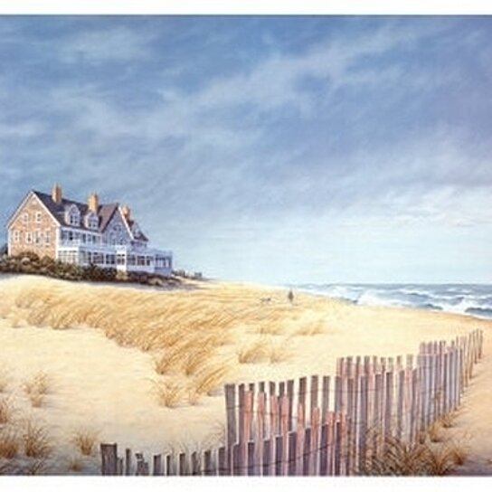 Buy beach house poster print by daniel pollera 36 x 24 for Beach house prints