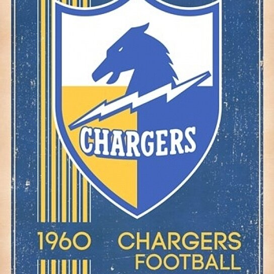 Buy San Diego Chargers Retro Logo 14 Poster Print 22 X