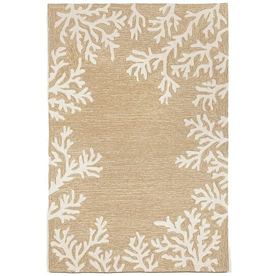 Buy Liora Manne Capri Coral Border Indoor Outdoor Area Rug Neutral By The Rug Department On Dot Bo