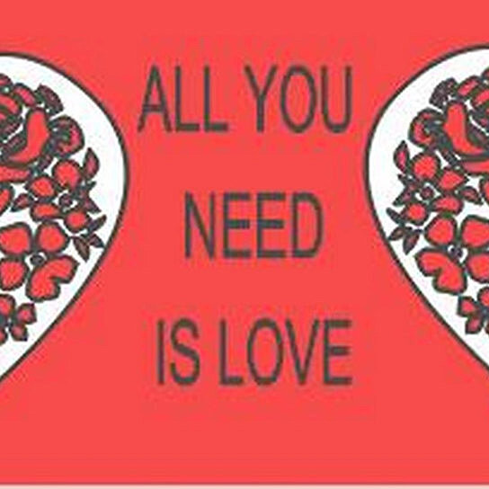 Wall Decor All You Need Is Love : Buy all you need is love vinyl wall lettering beatles