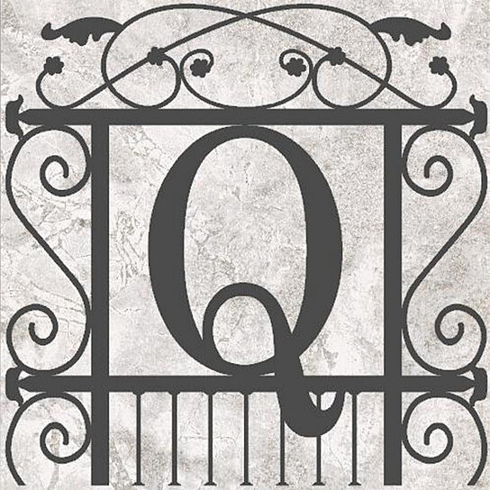 Buy custom french garden initial monogram with wrought