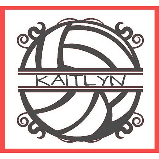 Buy VOLLEYBALL Personalized Vinyl Wall Lettering