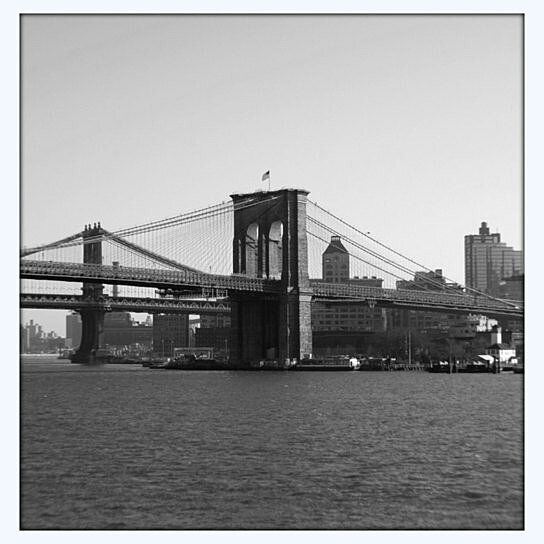 Buy brooklyn bridge black and white 4x6 5x7 8x10 by for Brooklyn bridge black and white wall mural