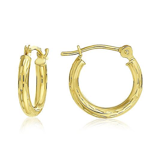 3f345f1e4 Buy 14k Yellow Gold Hand Engraved Full Diamond-cut Round Hoop Earrings for  Girls-1/2 Inch Diameter by TILO JEWELRY INC on Gemafina