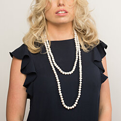 63 Inches White Pearl Necklace