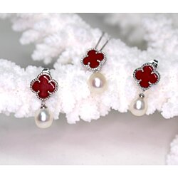 Four-leaf Clover Pearl Jewelry Set