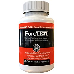 PureTEST: Natural Testosterone Booster for Men - Strongest Testosterone Booster Supplement Available