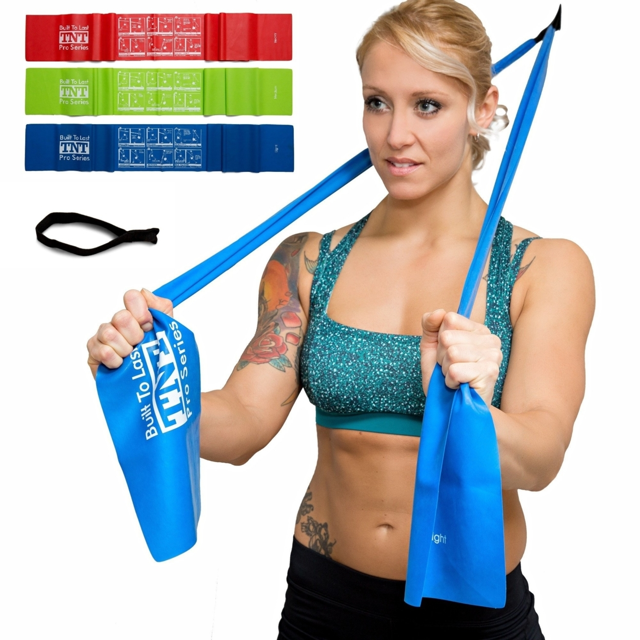 TNT Pro Series Exercise Stretch Bands With Door Anchor 5911e0e7c98fc458b6426b47