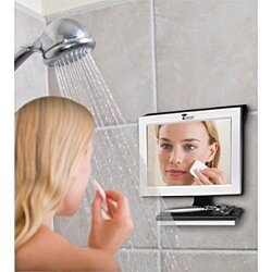Fogless Shower Mirror w/ Squeegee. Guaranteed Not to Fog, Designed Not to Fall!